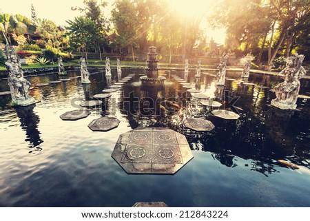 Water Palace, Bali, Indonesia - stock photo