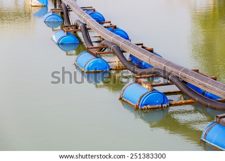Water pipe for factory - stock photo