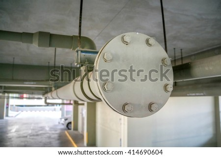 Water pipe system within the building.swimming pool.Construction work.Installation of sanitation in the buildings.Installation of water pipes in the building.