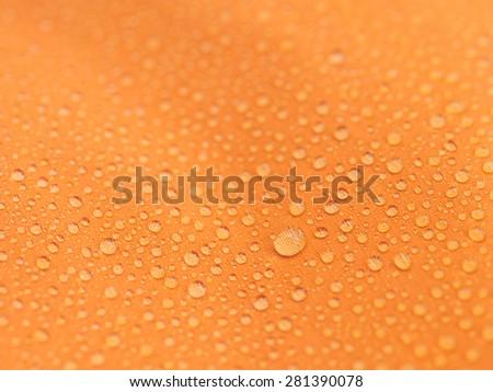 Water proof fabric - stock photo