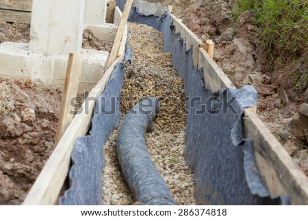 Water protection -drainage - stock photo