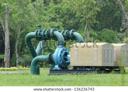 water pump and pipelines