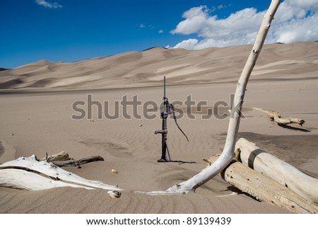 Water pump in the Great Sand Dunes.
