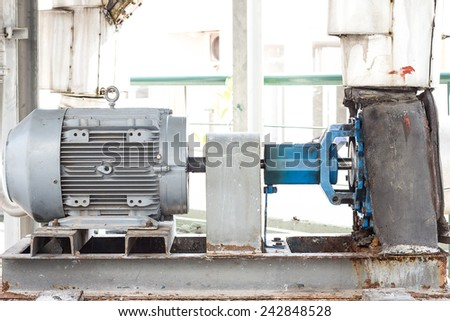 Water pumping and pipes for industry. - stock photo