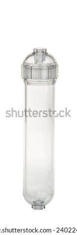 Water purifier filter isolation on white background