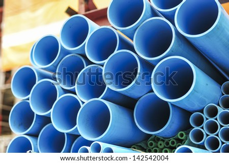 water PVC pipe section - stock photo