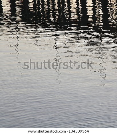 Water reflection abstract background. - stock photo