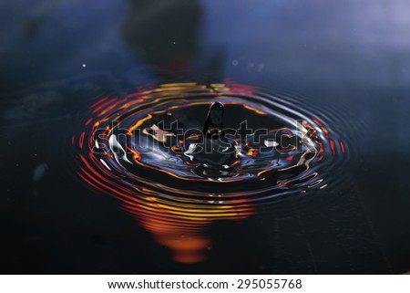 water reflection and water drop for background
