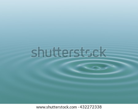 Water ripples and waves. 3D rendering. - stock photo