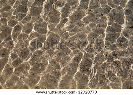 Water ripples texture with dark and light area