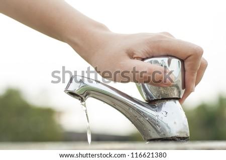 Water saving - stock photo