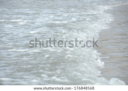 Water shape of wind wave ocean at sea beach