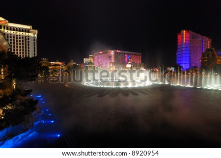 Water Show at Bellagio Casino in Las Vegas