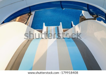 Water slide in the waterpark.  - stock photo