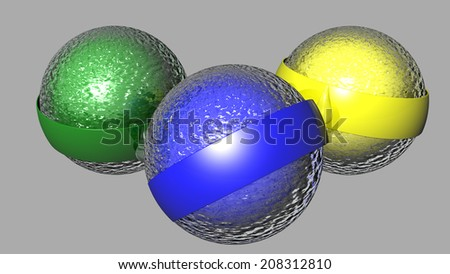 Water sphere with wavy surface - stock photo