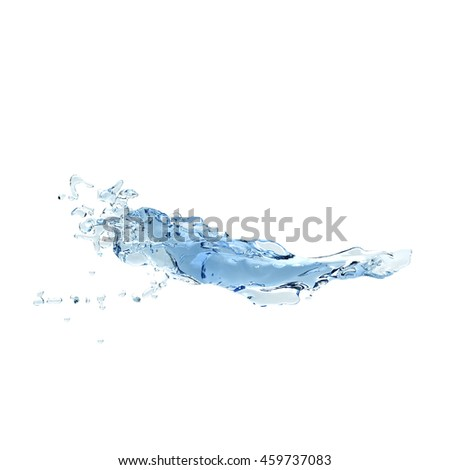 water splash Isolated 3d