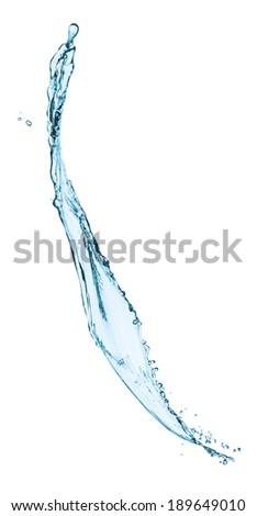 Water splash isolated on white - stock photo