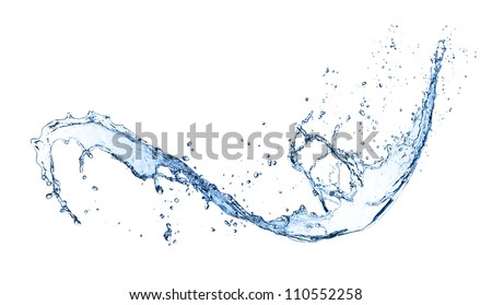 Water splash, isolated on white background