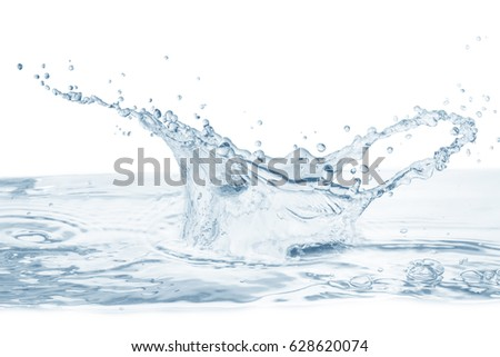 Water splash,water splash isolated on background,water water drop on  white  background