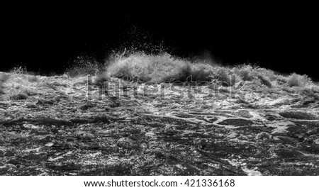 Water splashes on a black background - stock photo