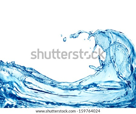 Water splashing  - stock photo