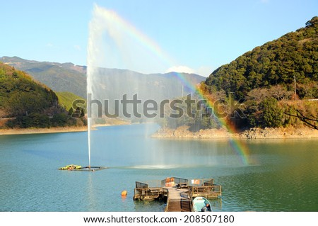 water spout in Japan - stock photo