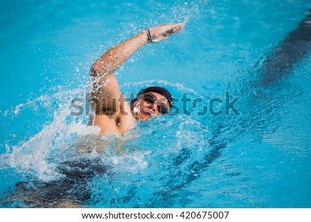 Water spread as a swimmer