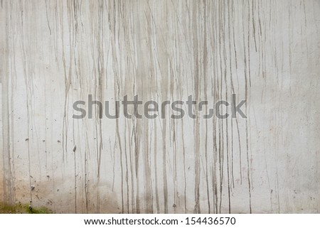 Water stains on the plaster walls - stock photo