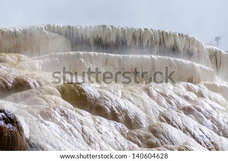 water, steam and sulfur at Mammoth Hot Springs in Yellowstone