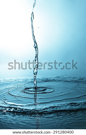 water stream - stock photo
