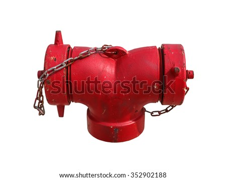 Water supply point isolated on white background. Clipping path.