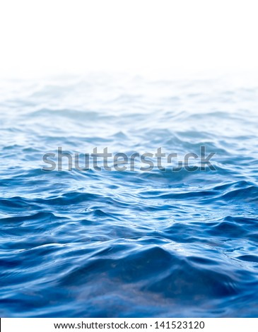 Water surface, abstract background with a text field - stock photo