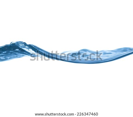 water surface on a white background - stock photo
