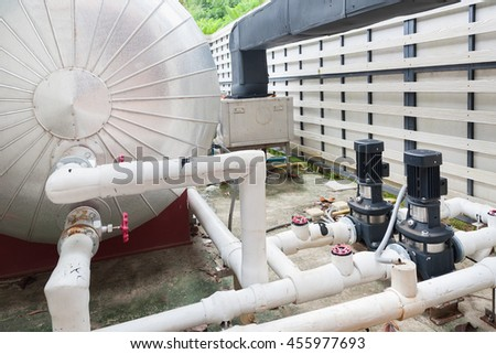 Motor pool stock images royalty free images vectors - Swimming pool water treatment plant ...