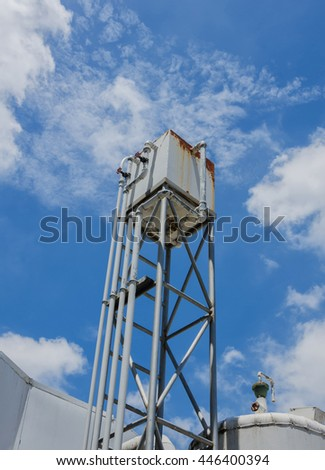 Water Tank and blue sky