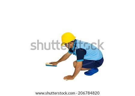 water tank cleaner - stock photo