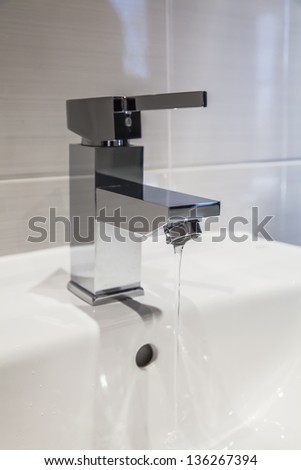 Water tap - stock photo