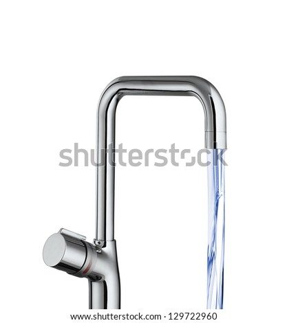 water tap isolated - stock photo