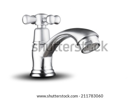 Water Tap on white background - stock photo