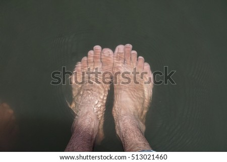 water thrill with feet