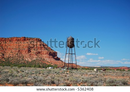 Water Tower in Southern Utah - stock photo