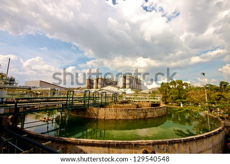 water treatment in plant. - stock photo