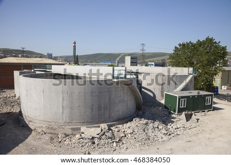 Water treatment plant's construction