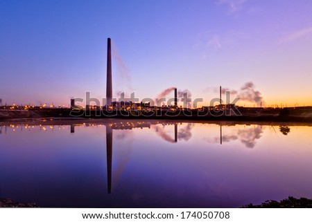 Water treatment to reduce pollution in a Nickel plant - stock photo