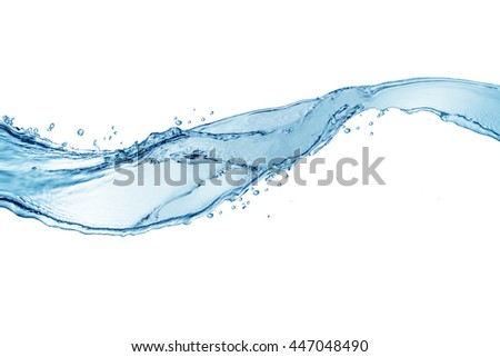 water,water splash isolated on white background,beautiful splashes a clean water - stock photo