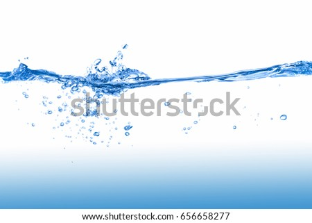Water,Water splash  isolated on white background with air bubble and a clean water.