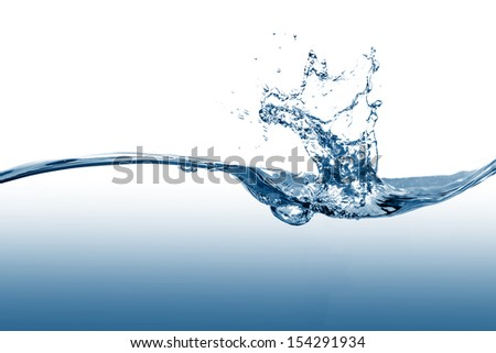 water wave and splash - stock photo