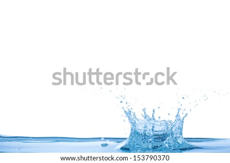 Water wave and splash background - stock photo