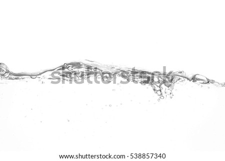 Water wave isolated on white background.