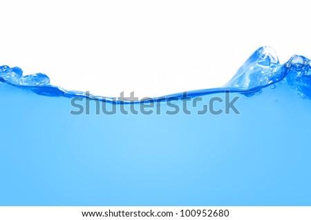 Water wave splash isolated - stock photo